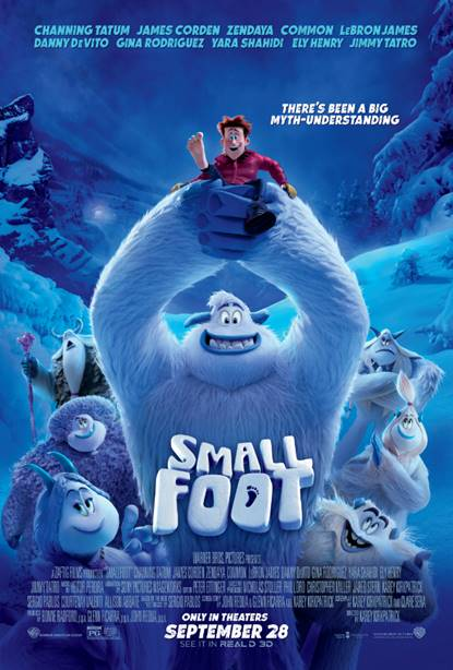 Warner Bros. Animation Studios' Smallfoot Movie poster
