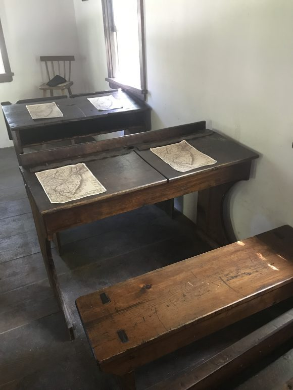 Student desk at Historic Cold Spring Village in Cape May New Jersey