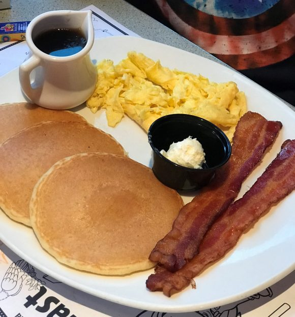 Silver Dollar Pancakes at Silver Diner in Cherry Hill
