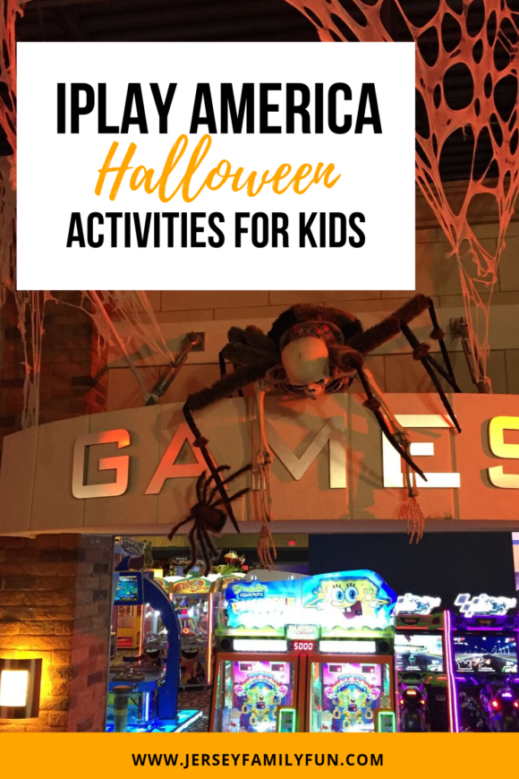 iPlay America Halloween activities in Freehold New Jersey has an arcade with Halloween decor