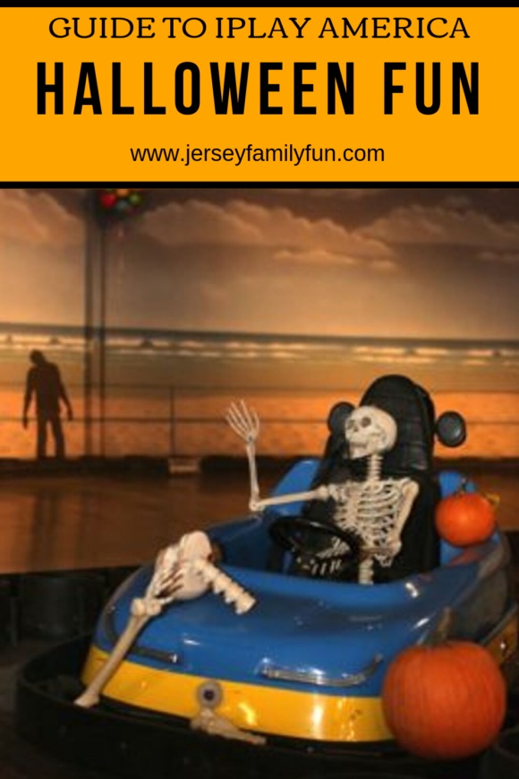 Guide to Halloween at iPlay America in Freehold picture of skeleton in go cart