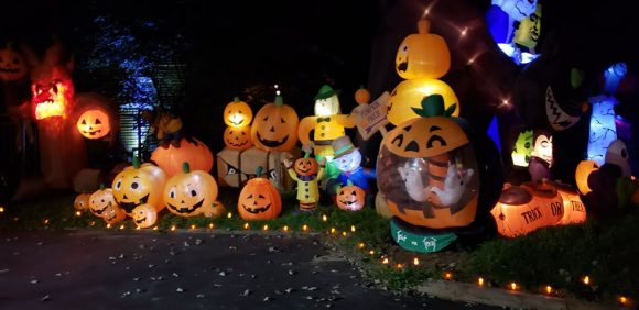 Halloween Inflatable Village in Wayne
