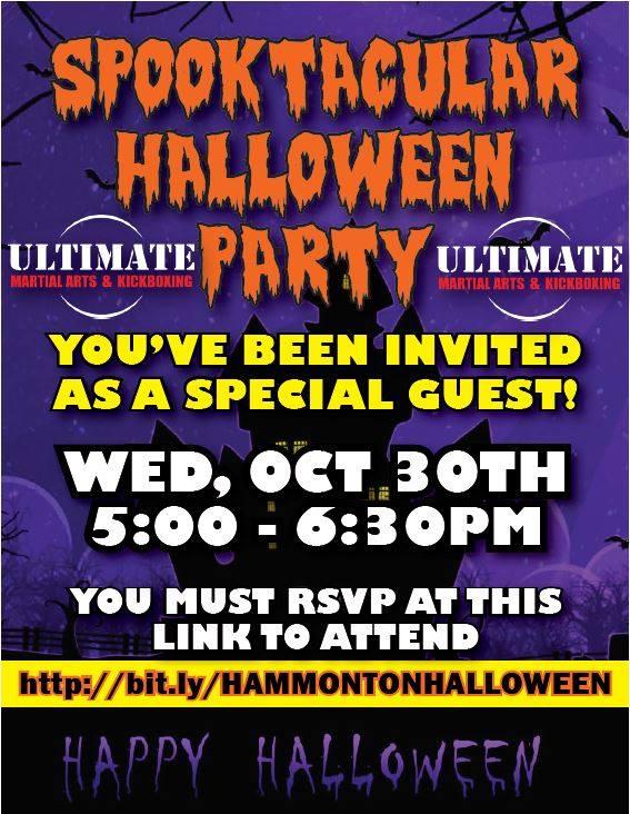 karate Halloween party for kids in Hammonton
