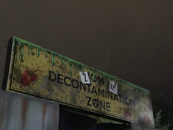 Zombie DeContamination Zone at Halloween Horror at Sahara Sams