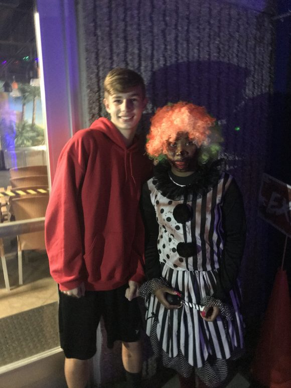 Scary clown at Halloween Horror at Sahara Sams