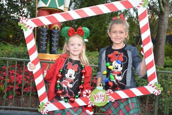 Disney World Christmas Mickeys Very Merry Christmas girls in picture