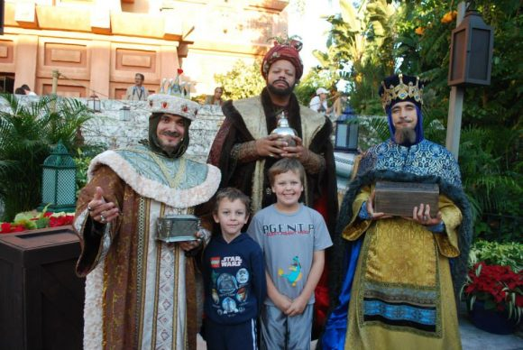 Three Wise Men at Disney World Christmas