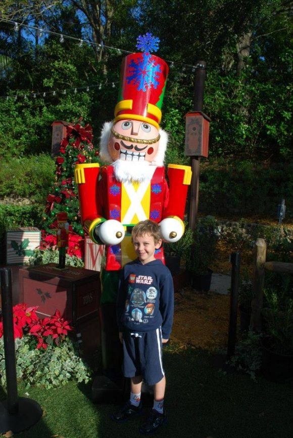 Disney World at Christmas with Nutcracker