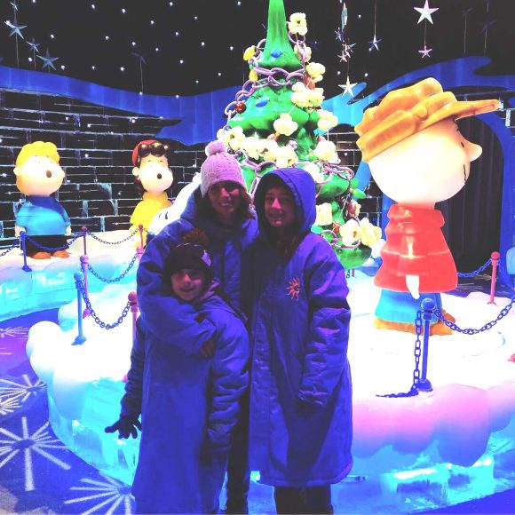 ICE! at the Gaylord National Resort in National Harbor Maryland features ICE! Charlie Brown Christmas