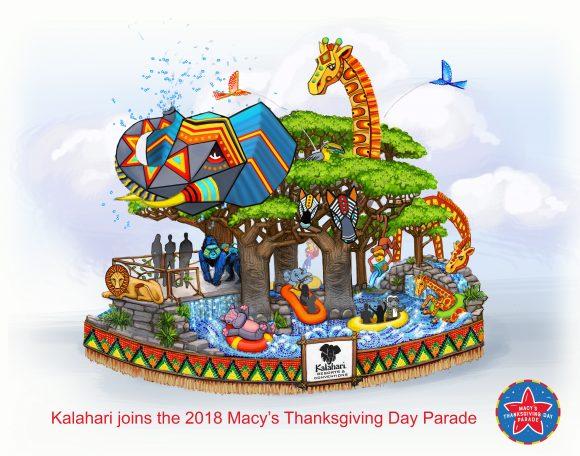 New Macy's Thanksgiving Day Parade Floats Kalahari Resorts Float