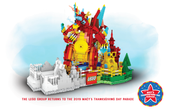 New LEGO Float at the Macy's Thanksgiving Day Parade