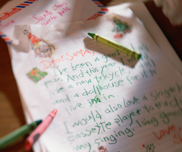 handwritten letter to santa