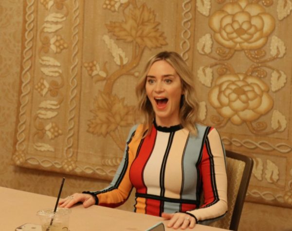 Emily Blunt Photo during Mary Poppins Returns press junket
