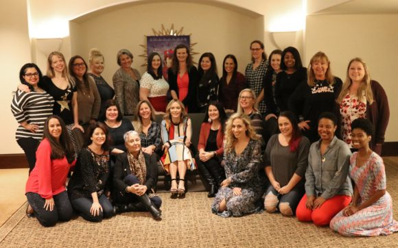 Emily Blunt Group Photo during Mary Poppins Returns press junket