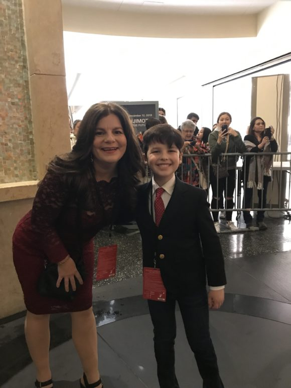 Iain Armitage from Young Sheldon at the Mary Poppins Returns red carpet premiere