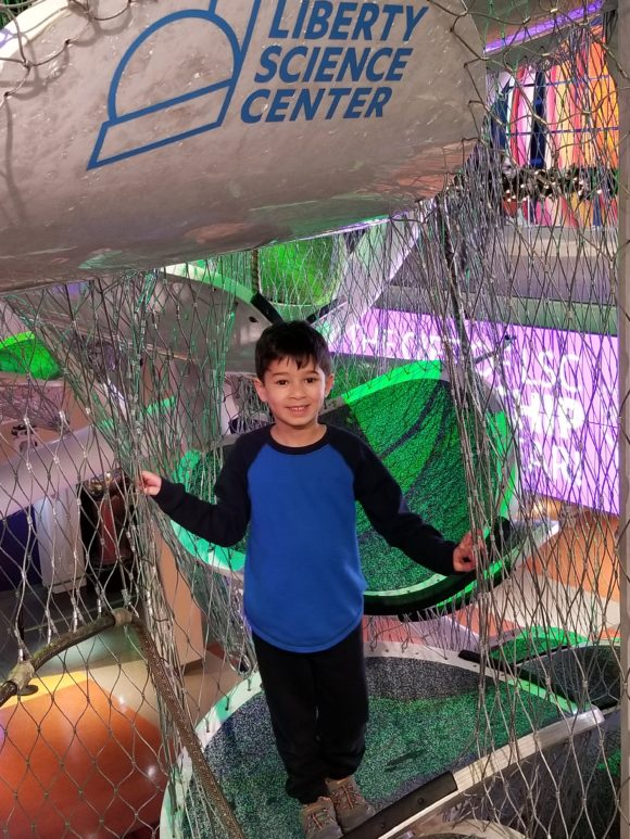 This winter climb inside the Liberty Science Center's infinity climber.