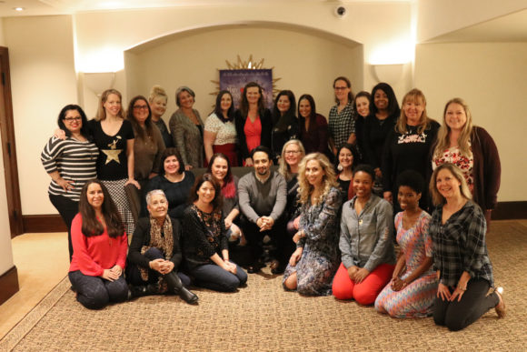 Group Photo Lin-Manuel Miranda interview with Disney Bloggers during Mary Poppins Press Junket
