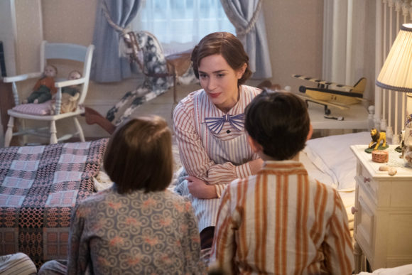 Mary Poppins returns scene with banks children in bedroom