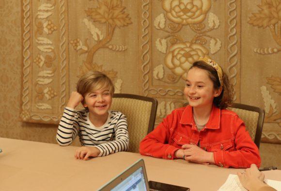 Pixie Davies & Joel Dawson from Disney Mary Poppins Returns