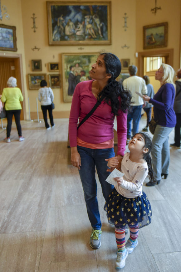 Peco Free First Sunday family day at the Barnes Foundation on March 4, 2018. (Photo/Michael Perez)