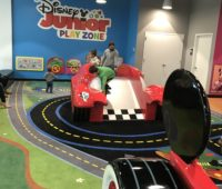 The slide and tunnel portion of the Disney Junior Play Zone at the Menlo Park Mall