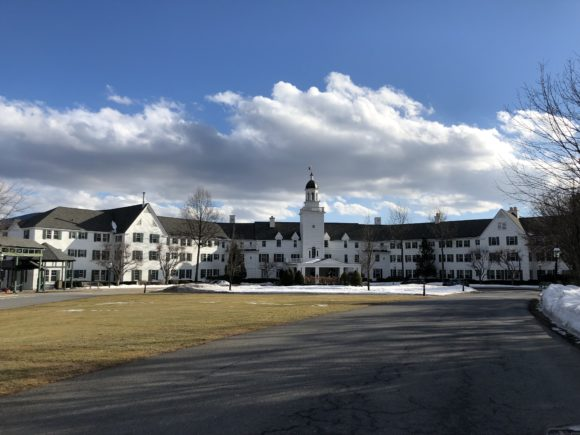 The Sagamore Resort in Lake George, photo of the main building.