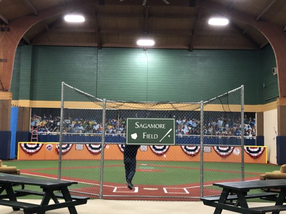 The Sagamore Resort at Lake George offers a large indoor recreation center including a wiffleball field