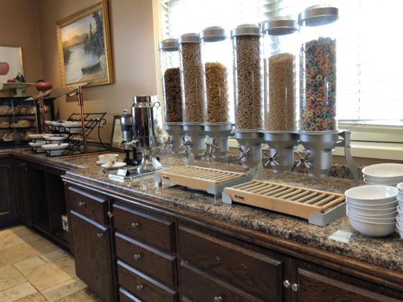 La Bella Vita at the Sagamore Resort at Lake George offers an extensive breakfast buffet.