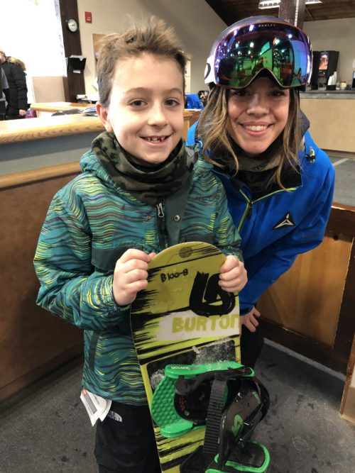 Gore Mountain Snowboard instructor Molly was so great for our son!