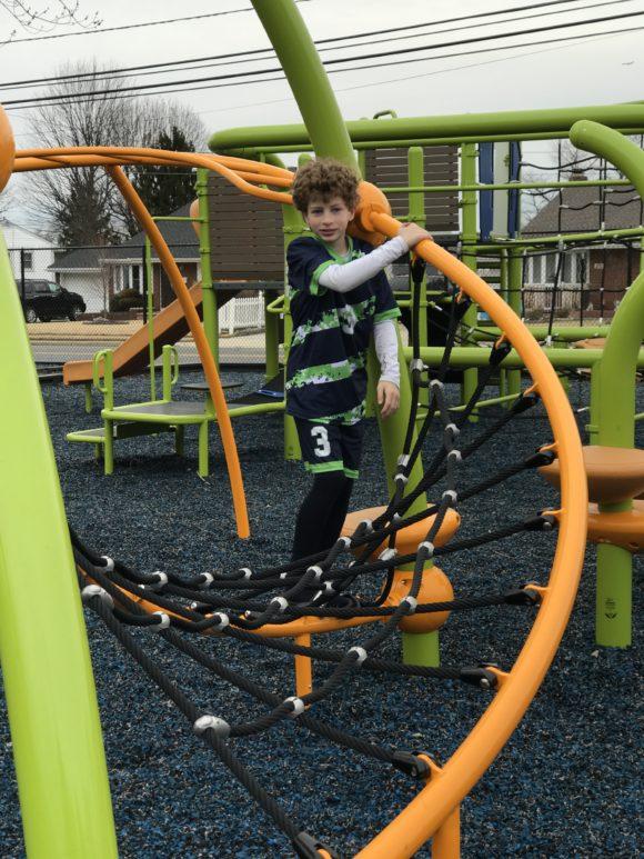 Landscape Sculptures also installed a flex climber at the Scott E Merulla Playground.