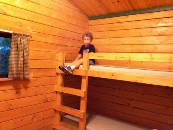 Sea pirate campground in Tuckerton offers cabins with bunk beds