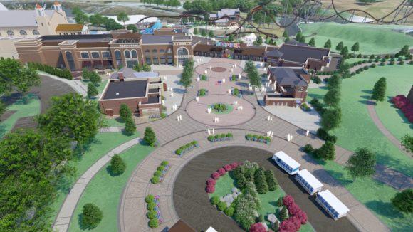 Hersheypark Chocolatetown Aerial view