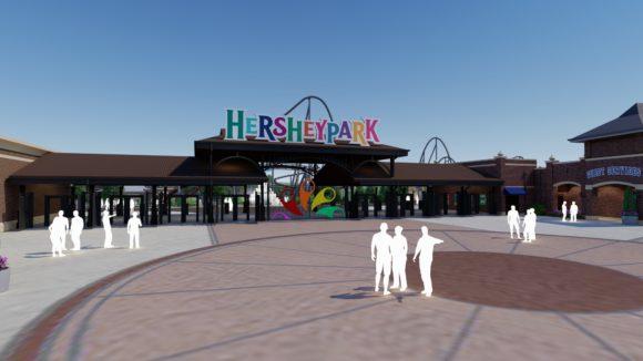 Hersheypark's Chocolatetown Front Gate
