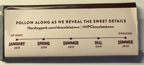 timeline for Construction site of Chocolatetown at Hersheypark