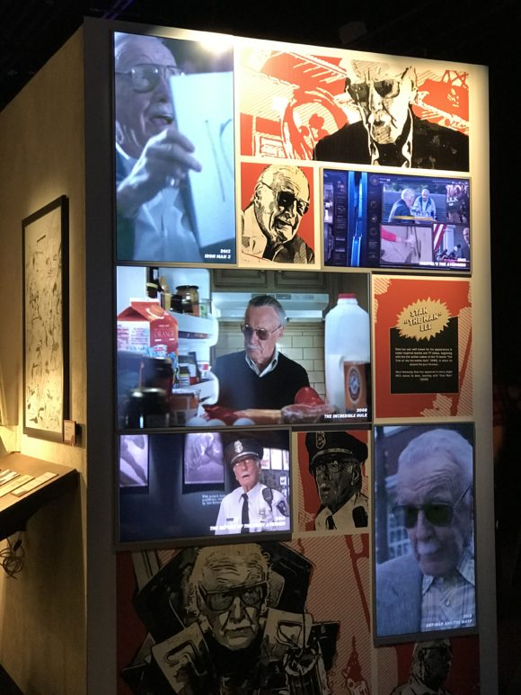 stan lee tribute at Marvel Universe of Super Heroes at the Franklin Institute