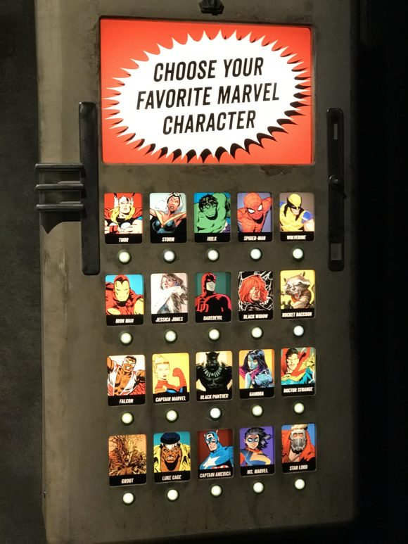 vote for favorite super hero at Marvel Universe of Super Heroes at the Franklin Institute