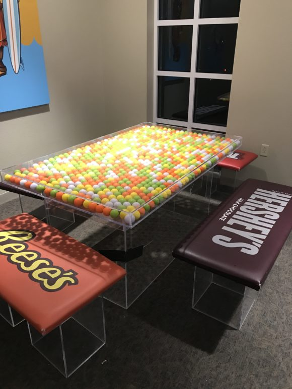 The Hershey Lodge Family Activity Room is a fun place near the Water Works for families to hang out.