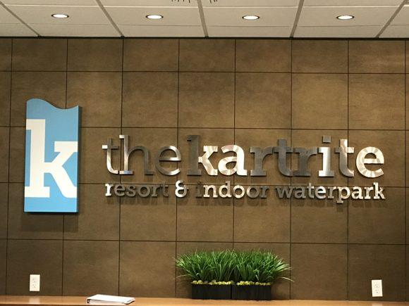 The Kartrite Resort & Indoor Waterpark front desk