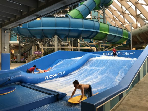 Ride the Endless Summer Flowrider at Kartrite Resort & Indoor Waterpark Endless Summer Flowrider