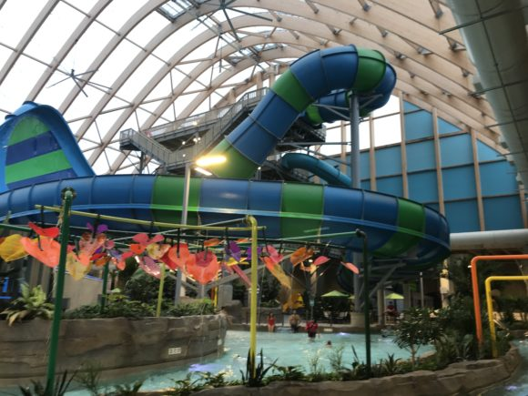waterslides at the The Kartrite Resort & Indoor Waterpark