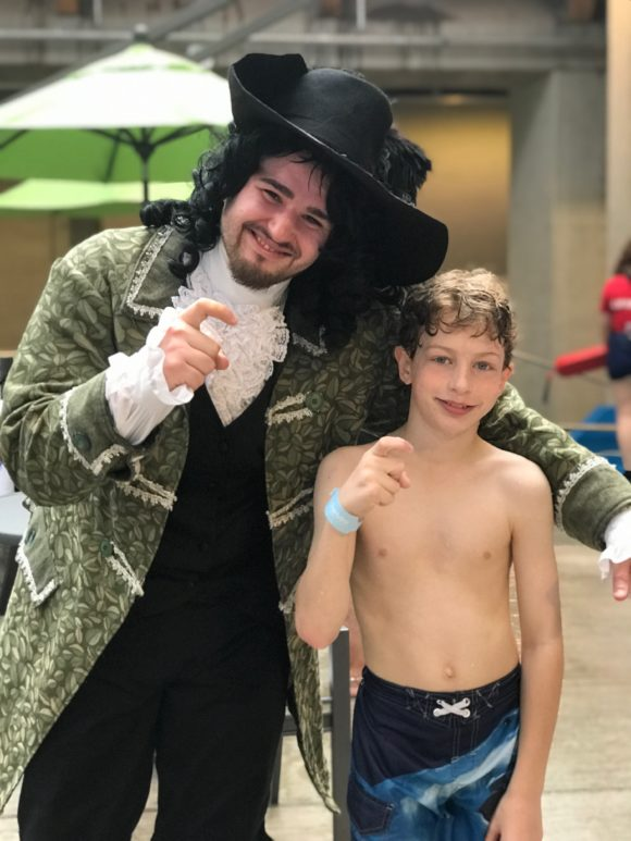 Your tweens can pose with characters at Kartrite Waterpark