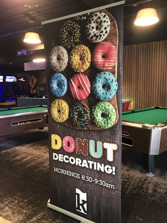One of the activities Kartrite offers for an additional activity is donut decorating.