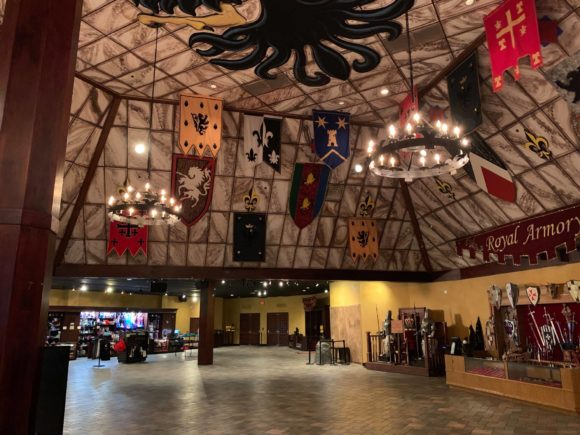 Medieval Times New Jersey castle lobby