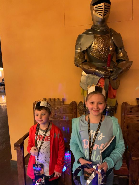 Medieval Times New Jersey kids with knight of armor