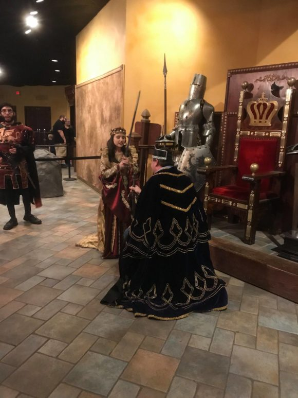 Medieval Times New Jersey knighting ceremony