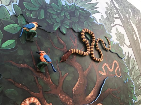 Philadelphia Zoo Micronesian Kingfisher birds are part of the LEGO Creatures of Habitat exhibit