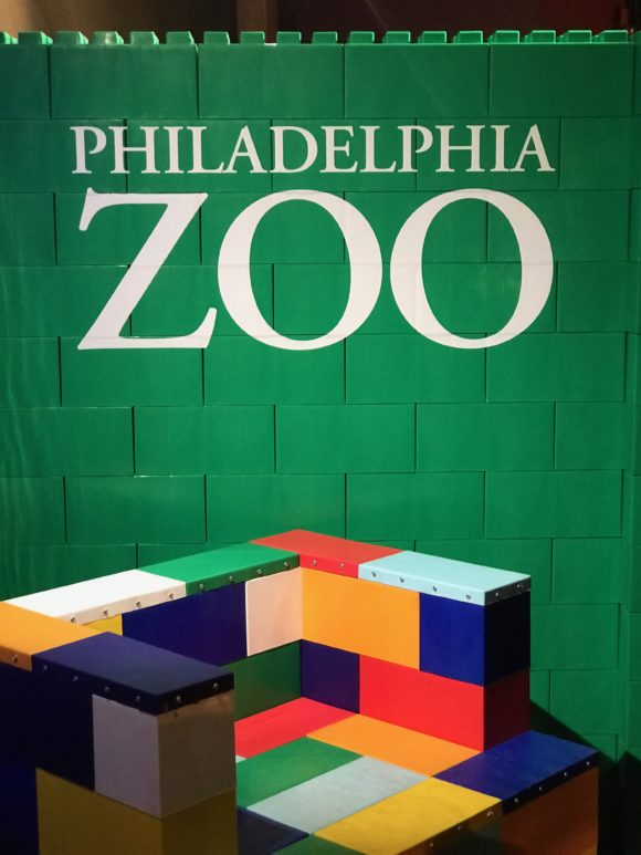 Lifesize LEGO chair at the Philadelpia Zoo