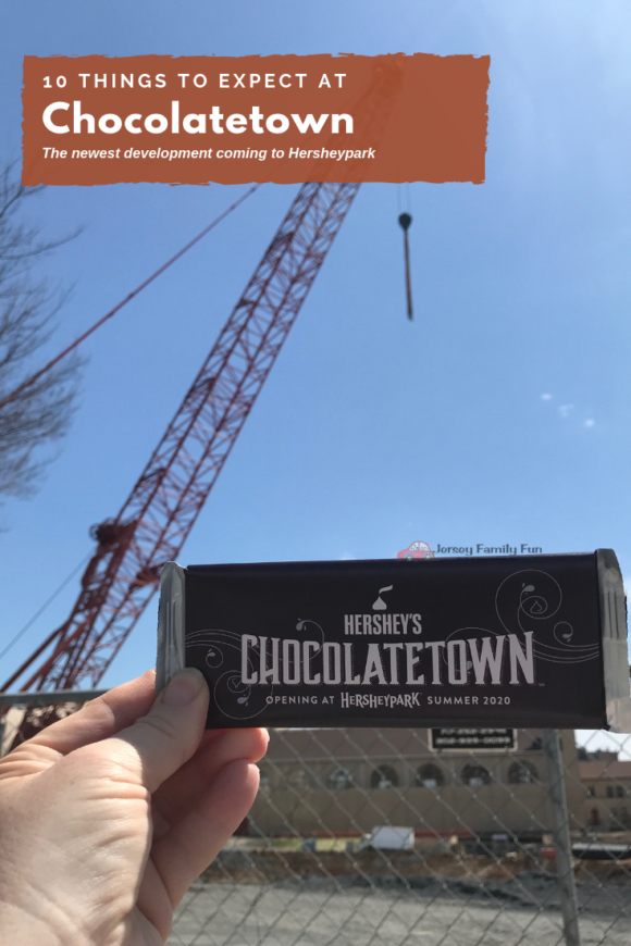 Construction site of Chocolatetown at Hersheypark