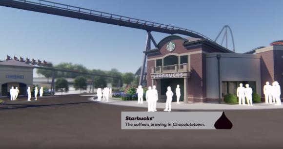 Starbucks at Chocolatetown at Hersheypark
