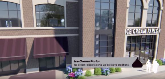 Ice cream parlor at Chocolatetown at Hersheypark